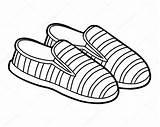 Cartoon Coloring Shoes Shoe Slip Vector Children Premium Ksenya Savva sketch template