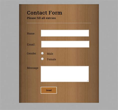 form styling with html css3 formget