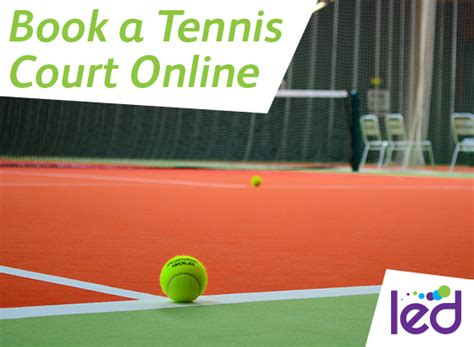book  tennis court  exmouth led community leisure