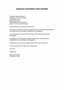 Employee Termination Letter Template  Hashdoc