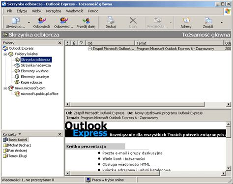 (1) Outlook Czy Outlook Express