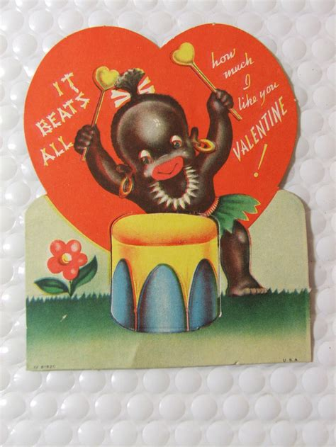 unbelievably racist vintage valentines day cards