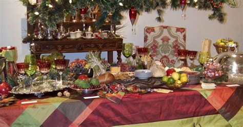 silver trappings holiday tables  christmas buffet
