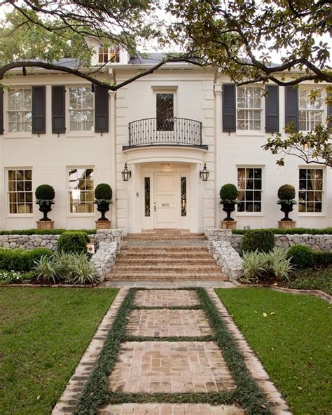 White Brick Home  Traditional  Home Exterior  Jan Showers