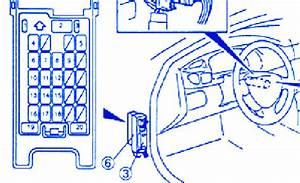 Mazda E 2000 2001 Steering Fuse Box  Block Circuit Breaker