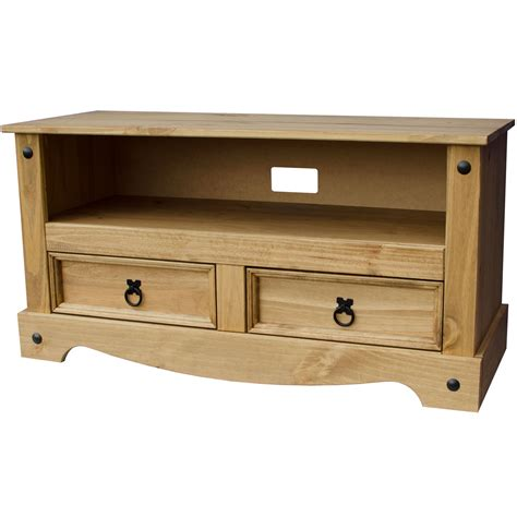 pine television corona panama tv cabinet media dvd units wood solid pine