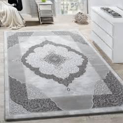 teppich wohnzimmer teppich wohnzimmer klassisch ornament abstrakt design meliert grau anthrazit wohn und