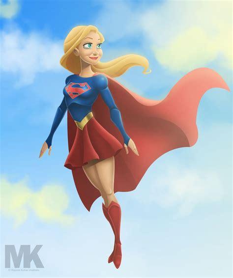 artstation cbs supergirl animated style mayank kumar