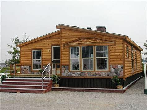 log cabin trailer homes log cabin wide mobile home makeovers