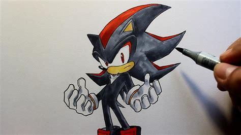 wie zeichnet man shadow sonic  hedgehog zeichen