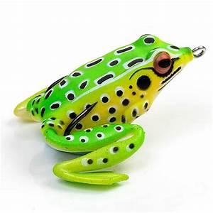 5cm Fishing Lures Large Frog Topwater Crankbait Hooks Bass ...