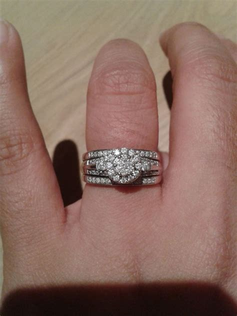 spinoff pics of your two rings together wedding ring engagement ring page 2