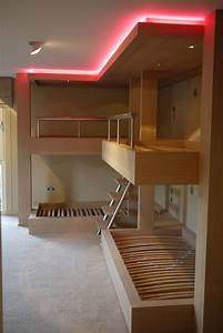 Lighting Ideas For Loft Ceilings Huge Bespoke Bunk Beds In Limed Oak With Integrated