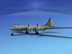 Boeing B-29 Superfortress V01 3D Model rigged MAX 3DS LWO