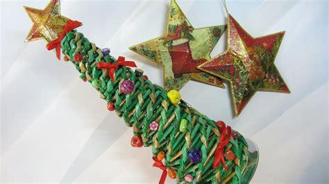 como hacer un 225 rbol de navidad hecho con papel peri 243 dicos