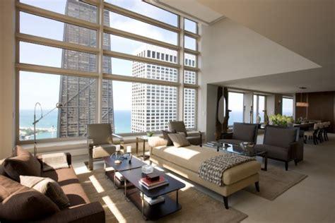 contemporary penthouse apartment  chicago  custom