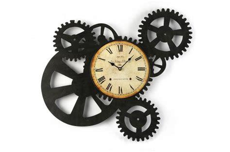 objet deco cuisine horloge murale engrenage 51 x 54 cm horloge design pas cher