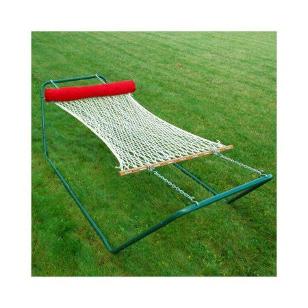 Cotton Rope Hammock With Stand by Algoma Net Company 11ft White Cotton Rope Hammock And