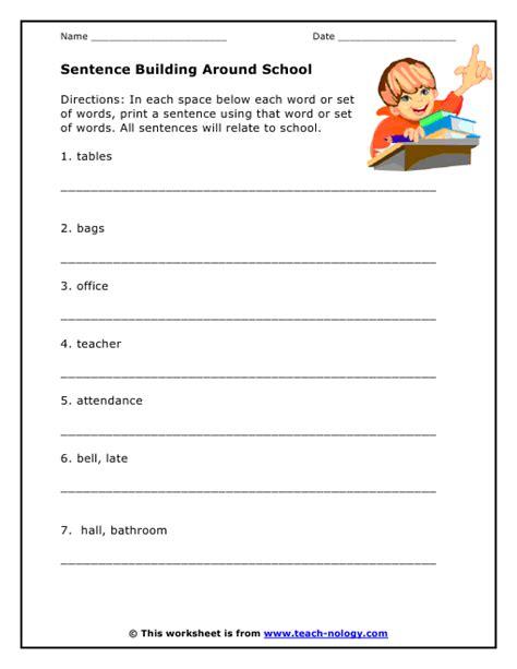 all worksheets 187 sentence structure worksheets for