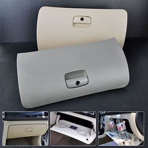New Grey  Beige Car Storage Glove Drawer Box Cover Lid For