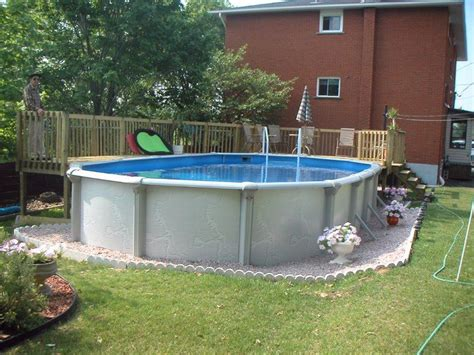 Backyard Swimming Pools Above Ground by Small Fiberglass Above Ground Swimming Pools Designs With