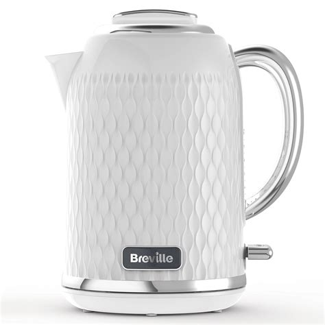 Curve Jug Kettle And Toaster Set, White And Chrome Breville