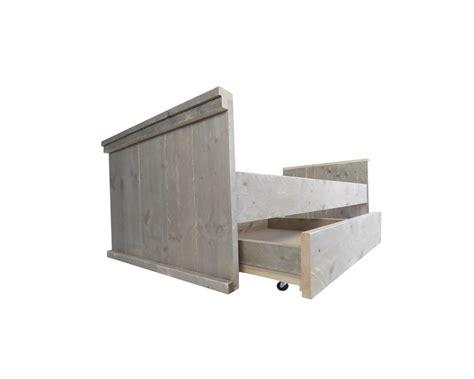 kinderbed met lade steigerhout kinderbed 90 x 200 cm steigerhout bed voor