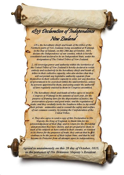 declaration  independance   zealand rangihou