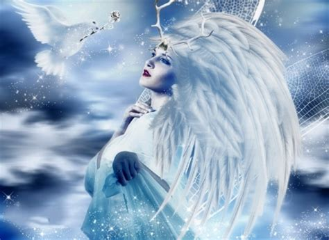 year angel fantasy abstract background