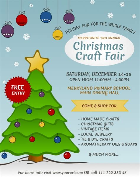 christmas template craft christmas craft fair flyer template postermywall