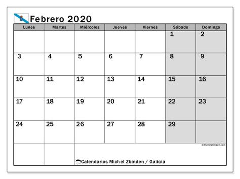 calendario febrero galicia espana michel zbinden es