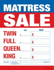 large price card     mattress sale furniture