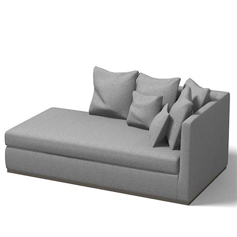 Contemporary Chaise Sofa by Flexform Sofa Modern 3d 3ds