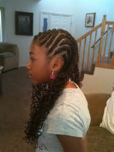 Two Layer Cornrow Braids with Extensions