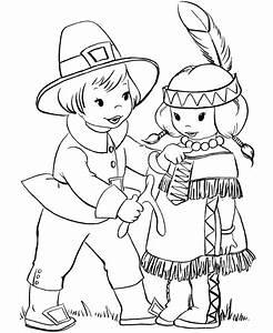 Desenho de Crianças no Dia do Índio para colorir