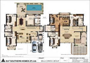 harmonious luxury home plans dlf greens bannerghatta road bangalore floor