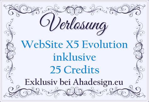 website  evolution inklusive credits fuer eine website