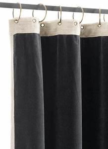 Rideau Gris Anthracite : rideau occultant m dicis en velours de coton gris anthracite pr t poser 130x280 cm ~ Teatrodelosmanantiales.com Idées de Décoration