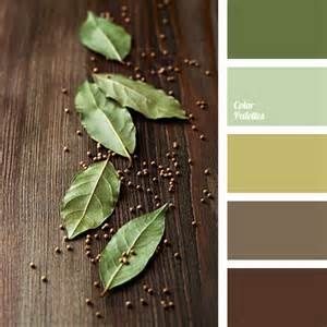 Olive Green and Brown Color Palette