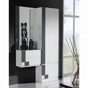 armoire miroir armoire portes tiroirs clack blanc portes With porte d entrée pvc avec armoire murale de salle de bain