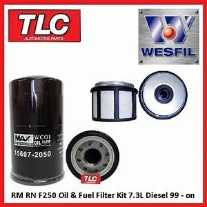 Oil  U0026 Fuel Filter Kit F250 F350 Rn Rm 7 3 Turbo Diesel 99