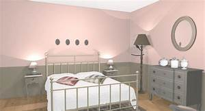 chambre blanc et taupe - chambre taupe et rose