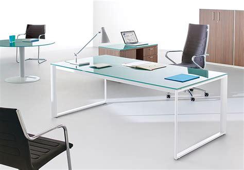 bureau avec plateau en verre bureau plateau en verre blanc