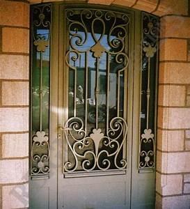 porte d39entree exterieur en fer forge facade pinterest With porte d entrée en fer