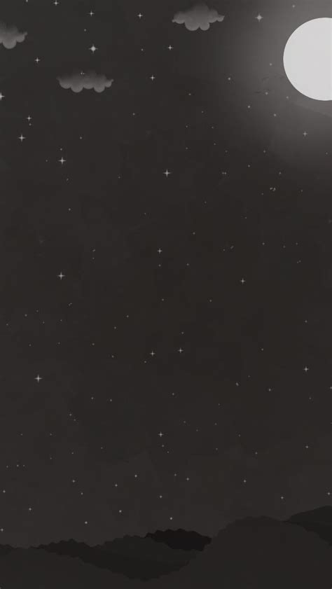 Black Wallpaper Iphone Moon by Tap And Get The Free App Creative Black White Moon
