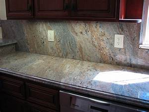 Granite kitchen tile backsplashes ideas granite for Kitchen granite countertop backsplash ideas
