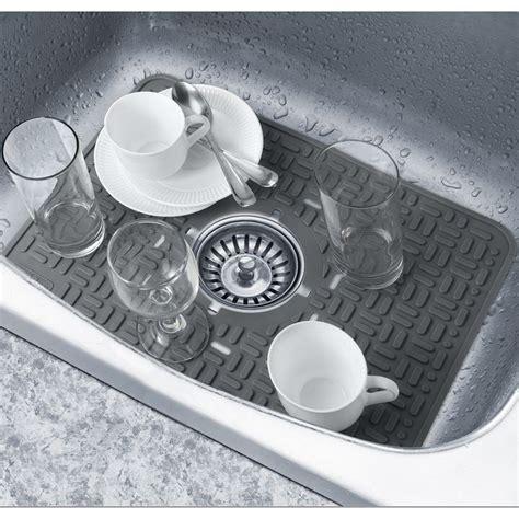 ceramic sink protector mats softprep in sink grey protector rubber non slip