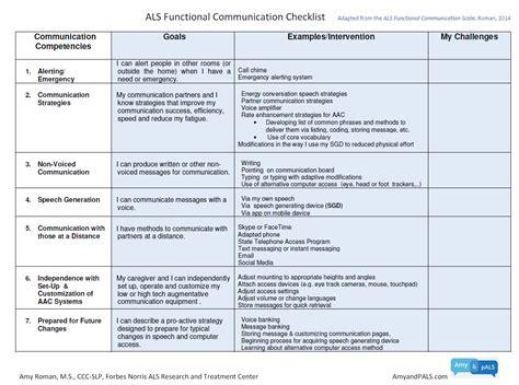 communication checklist  aac assessment  individuals