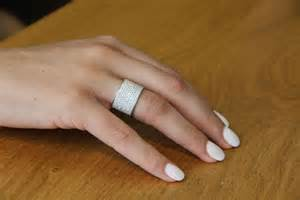 gold womens wedding band wide band ring 18k white gold wedding band 2 2 tcw wedding ring womens wedding band