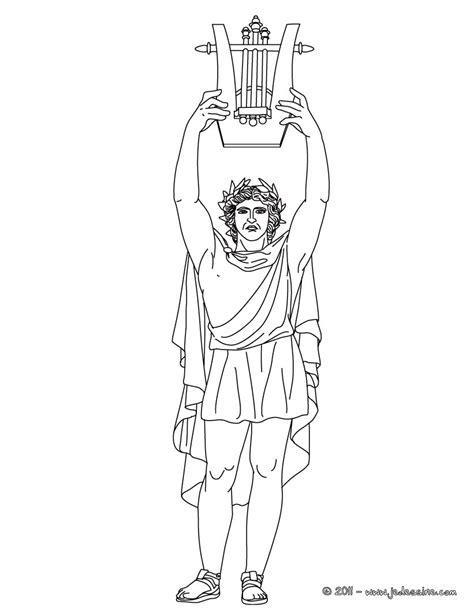 chambre grecque coloriages coloriage apollon dieu grec des arts et de la